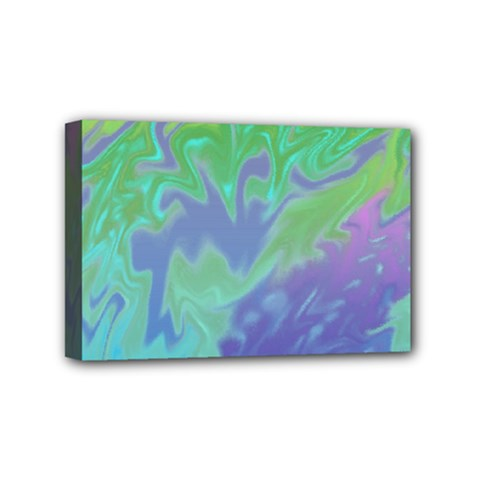 Green Blue Pink Color Splash Mini Canvas 6  X 4  by BrightVibesDesign