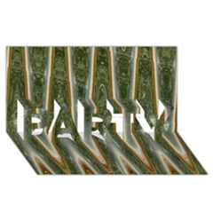 Green Brown Zigzag Party 3d Greeting Card (8x4)  by BrightVibesDesign