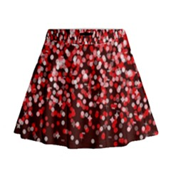 Red Glitter Rain Mini Flare Skirt by KirstenStar