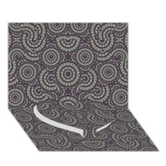 Geometric Boho Print Heart Bottom 3d Greeting Card (7x5)  by dflcprints