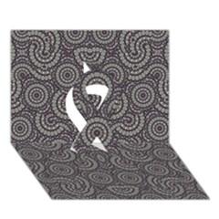 Geometric Boho Print Ribbon 3d Greeting Card (7x5)  by dflcprints
