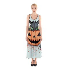 Halloween Dragon Sleeveless Maxi Dress by lvbart