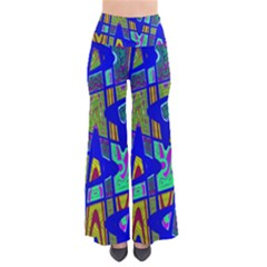 Bright Blue Mod Pop Art  Pants by BrightVibesDesign