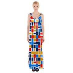 Colorful Shapes                                  Maxi Thigh Split Dress by LalyLauraFLM
