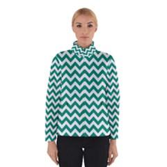 Emerald Green & White Zigzag Pattern Winterwear by Zandiepants