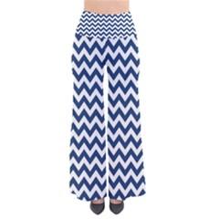 Navy Blue & White Zigzag Pattern Pants by Zandiepants