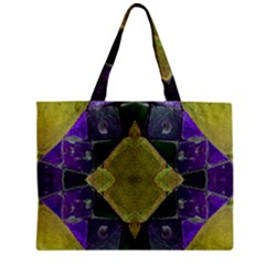 Purple Yellow Stone Abstract Mini Tote Bag by BrightVibesDesign