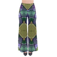 Purple Yellow Stone Abstract Pants by BrightVibesDesign