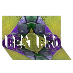 Purple Yellow Stone Abstract Best Bro 3d Greeting Card (8x4)  by BrightVibesDesign
