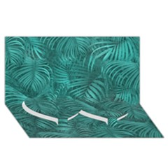 Tropical Hawaiian Pattern Twin Heart Bottom 3d Greeting Card (8x4)  by dflcprints
