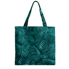 Tropical Hawaiian Pattern Zipper Grocery Tote Bag by dflcprints