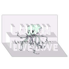 Skellingpus Laugh Live Love 3D Greeting Card (8x4)  by lvbart