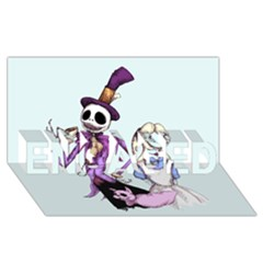 Nightmare In Wonderland  Engaged 3d Greeting Card (8x4)  by lvbart