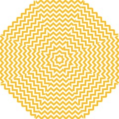 Sunny Yellow & White Zigzag Pattern Hook Handle Umbrella (small)