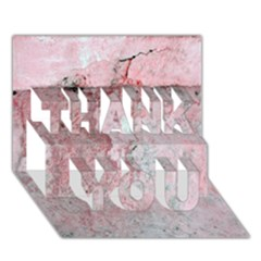 Coral Pink Abstract Background Texture Thank You 3d Greeting Card (7x5) by CrypticFragmentsDesign