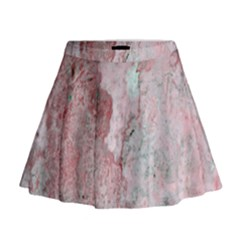 Coral Pink Abstract Background Texture Mini Flare Skirt by CrypticFragmentsDesign