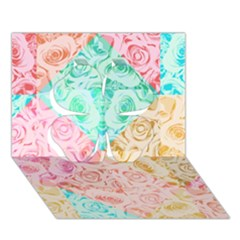 A Rose Is A Rose Clover 3d Greeting Card (7x5)