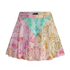 A Rose Is A Rose Mini Flare Skirt by hennigdesign