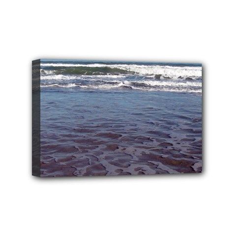 Ocean Surf Beach Waves Mini Canvas 6  X 4  by CrypticFragmentsColors