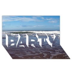 Ocean Surf Beach Waves Party 3d Greeting Card (8x4)