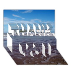 Ocean Surf Beach Waves Thank You 3d Greeting Card (7x5)  by CrypticFragmentsColors