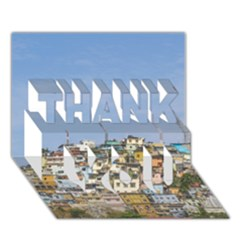 Cerro Santa Ana Guayaquil Ecuador Thank You 3d Greeting Card (7x5)  by dflcprints