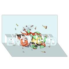 Mike & Tum Tum Engaged 3d Greeting Card (8x4)
