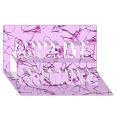 Thorny Abstract,soft Pink Congrats Graduate 3d Greeting Card (8x4)  by MoreColorsinLife
