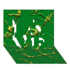 Thorny Abstract,green Love 3d Greeting Card (7x5)