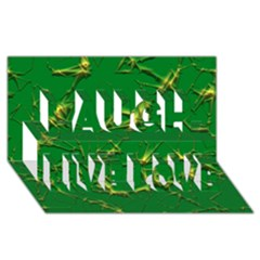 Thorny Abstract,green Laugh Live Love 3d Greeting Card (8x4)  by MoreColorsinLife