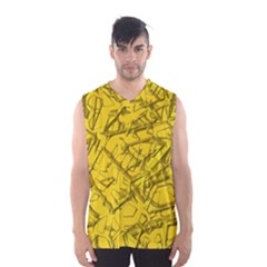 Thorny Abstract,golden Men s Basketball Tank Top by MoreColorsinLife
