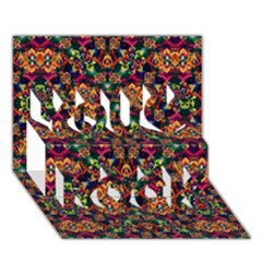 Luxury Boho Baroque You Rock 3d Greeting Card (7x5)  by dflcprints