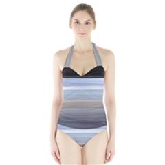 Pompey Beach Women s Halter One Piece Swimsuit