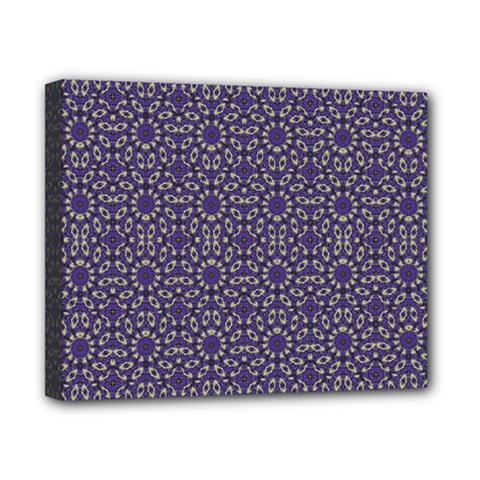 Stylized Floral Check Canvas 10  X 8  by dflcprints