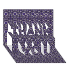 Stylized Floral Check Thank You 3d Greeting Card (7x5)  by dflcprints