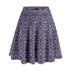 Stylized Floral Check High Waist Skirt by dflcprintsclothing