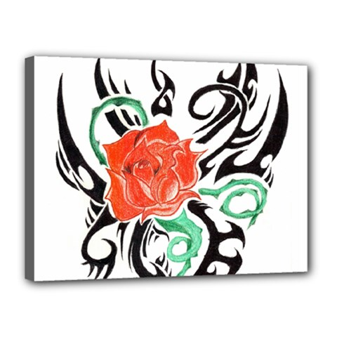 Tribal Rose Canvas 16  X 12  by Limitless