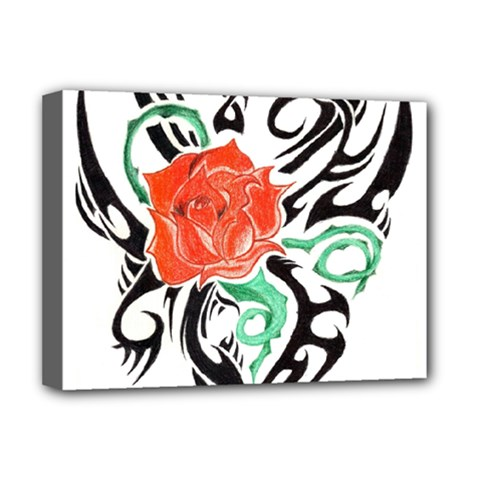 Tribal Rose Deluxe Canvas 16  X 12   by Limitless