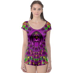 Love For The Fruit And Stars In The Milky Way Boyleg Leotard (ladies) by pepitasart