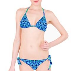 Blue Sea Jewel Mandala Bikini Set by Zandiepants