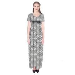Ripple N Fold Ondule Short Sleeve Maxi Dress by MRTACPANS