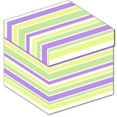 Yellow Purple Green Stripes Storage Stool 12   by BrightVibesDesign