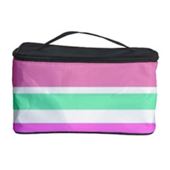 Pink Green Stripes Cosmetic Storage Cases