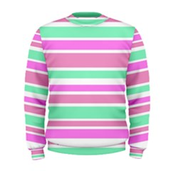 Pink Green Stripes Men s Sweatshirt