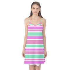 Pink Green Stripes Camis Nightgown