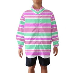 Pink Green Stripes Wind Breaker (Kids)