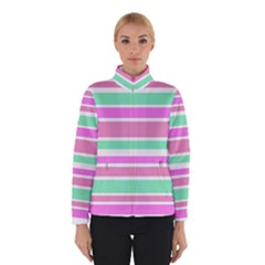 Pink Green Stripes Winterwear