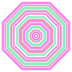 Pink Green Stripes Folding Umbrellas