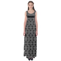 Number Art Empire Waist Maxi Dress