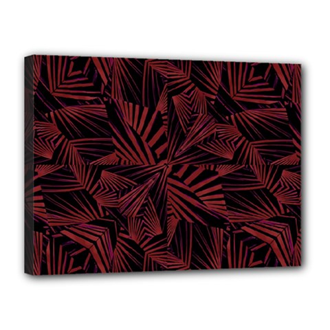 Sharp Tribal Pattern Canvas 16  X 12  by dflcprints